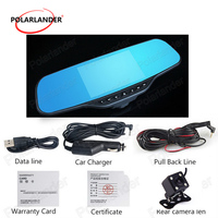 factory price sale Portable DVR Camera HD night vision Motion Dection Rear View Mirror Car DVR 4.3 Inch LCD Camera