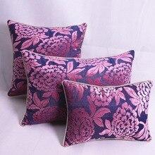 Роскошное фиолетовое с украшением в виде милого цветка Подушка/almofadas чехол размером 45*45, Европейский барокко Чехлы украшения дома
