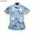 Newsosoo mais novo estilo camisa denim homens marca juventude moda verão novo algodão de manga curta camisas dos homens casual masculino dj7