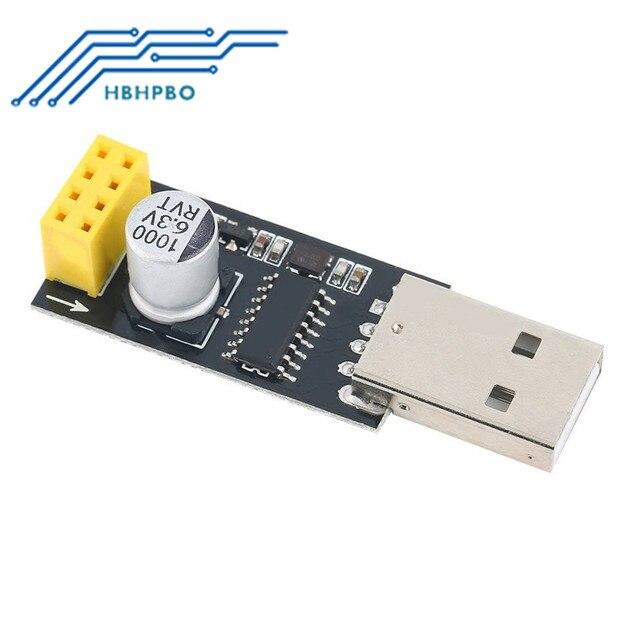 ESP01 adaptador de programador, UART GPIO0 ESP-01 Adaptaterr ESP8266 USB a ESP8266 Serial Wireless Wifi Developent Junta módulo