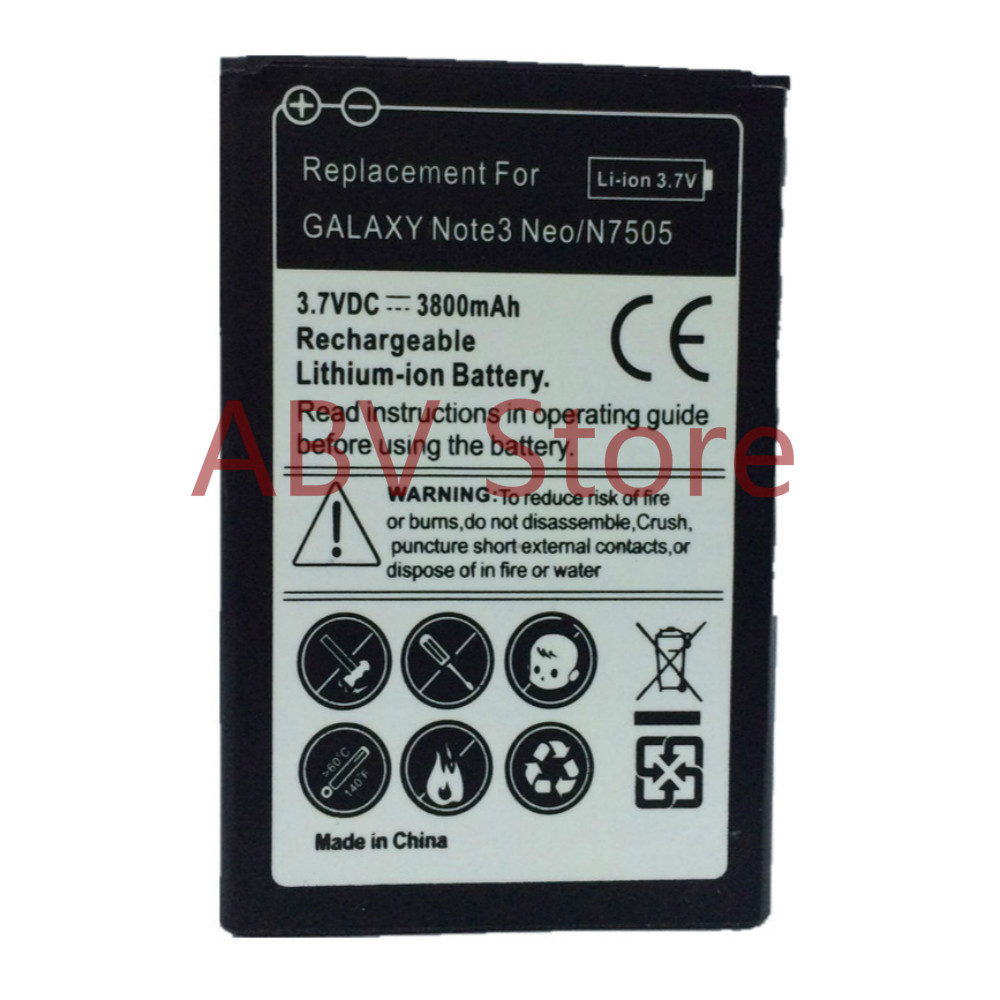 Original ABV EB-BN750BBC replacement Battery For Galaxy Note 3 mini note3 III Neo N7505 N750 N7506V N7508V battery