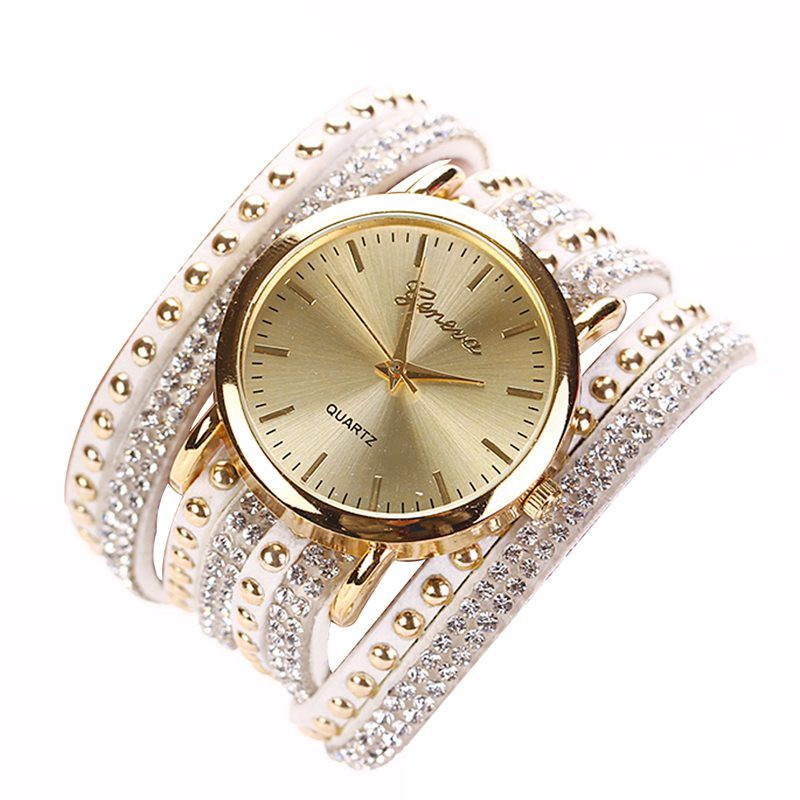 2018 Brand Luxury Brand Bracelet Rhinestone Quartz Watch Women Female Ladies Dress Fashion Quartz Wristwatch Relogio Feminino swiss fashion brand agelocer dress gold quartz watch women clock female lady leather strap wristwatch relogio feminino luxury
