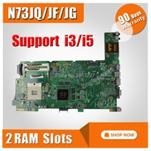 Original Laptop Motherboard for ASUS N73JG N73JQ N73JF REV 2 1 60 NZYMB1100 C14 Mainboard 2