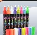 Envío libre de Humedad/marcador de borrado en Seco pizarra electrónica marker 6mm plumín 8g líquido fluorescente de la tiza tinta