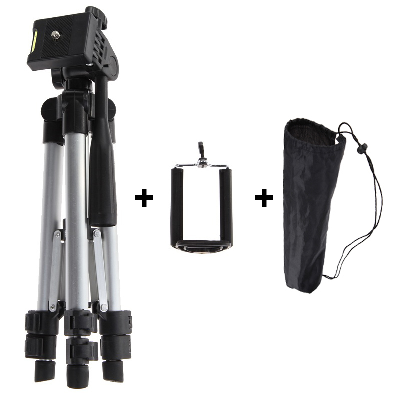 Portable Professional Camera Tripod With Phone Holder High Quality Universal Tripod For Camera Mobile Phone Tablet