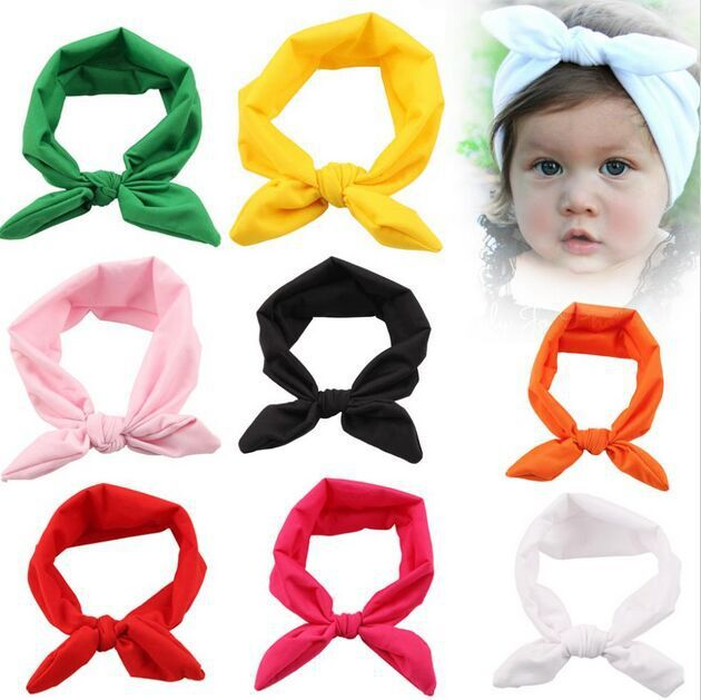 30pcs/lot 8 Colors top knot headband Kids girl hair wrap bands bunny rabbit ears turban headband turbante headwraps accessories girls floral summer dresses baby clothing girl dress print sundress children cotton clothes flower dresses sleeveless dress 4 14