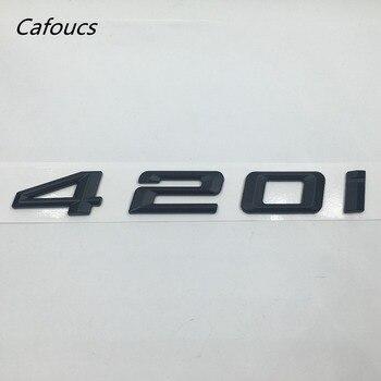 شارات سوداء ABS 420i 428i 430i 435i 440i شارات حرف الشارات لسيارات BMW 4-Series F32 F33 F36 الشارة