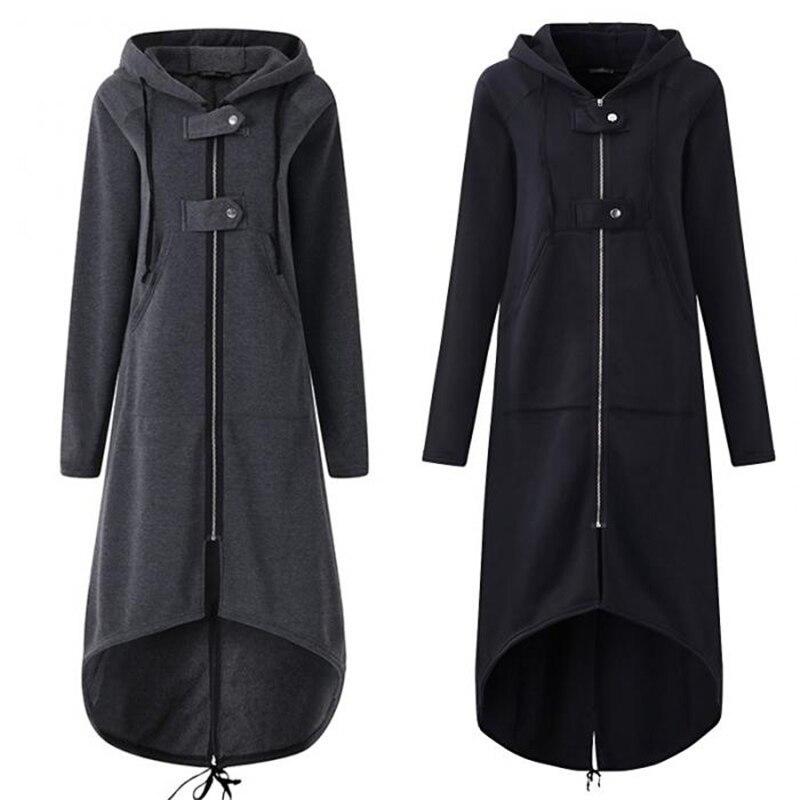 Women Autumn Overcoat Zipper…