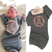 Одежда для сна для маленьких мальчиков и девочек Хлопковое одеяло спальный мешок с пеленками+ повязка на голову, комплект для детей от 0 до 18 месяцев