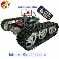 DOIT IR Contrôle Suivi Réservoir Châssis avec Arduino UNO Conseil R3 + Motor Drive Bouclier Conseil par Téléphone pour le BRICOLAGE Robot Projet