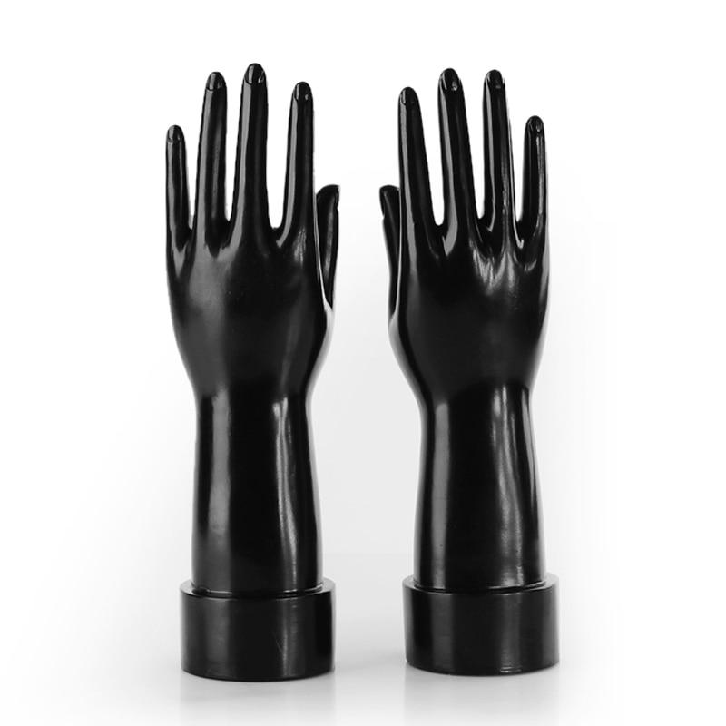 Pair Black Plastic Female Mannequin Hand Jewelry