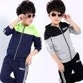 V-TREE 4Y-12Y Queda roupa das crianças conjunto de roupas esportivas para o menino uniforme da escola para meninos crianças agasalho roupas infantis menino