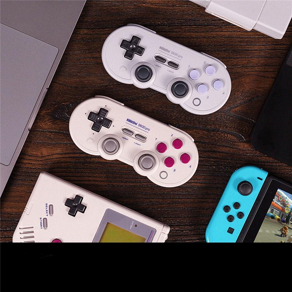 Pour Nintendo Switch NS Sans Fil Bluetooth Manette de jeu Pour 8bitdo SN30 Pro G Joystick manette Vapeur PC pour Android Mac OS