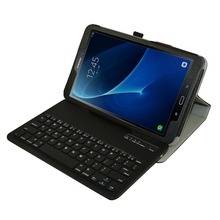 Removable Bluetooth Keyboard Leather Case Cover For Samsung Galaxy Tab A 10 1 T580 T585 SM