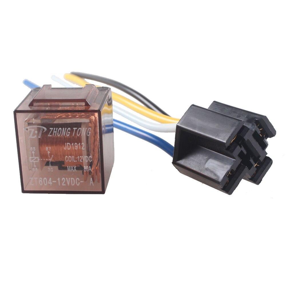 EE support voiture 12 V 12 volts DC 80A AMP   Relais et prise transparente SPDT 4Pin 4 fils