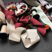 100% Silk Ribbons handmade hair accessories bouquet gift box packaging wedding pink purple white colors 10 yard for sample