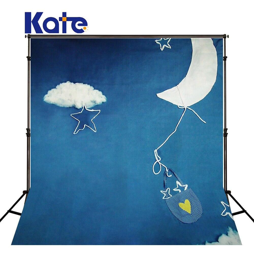 KATE photographie toiles de fond 10Ftx10Ft toile de fond photographie bleu Royal nuages toile de fond enfants Achtergrond Fotografie