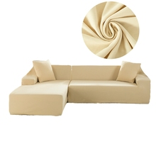Beige Knitted Sectional Sofa Slipcovers For Living Room Universal Stretch Couch Sofa Slipcovers Elastic L Shape  sc 1 st  AliExpress.com : sectional sofa slipcovers - Sectionals, Sofas & Couches