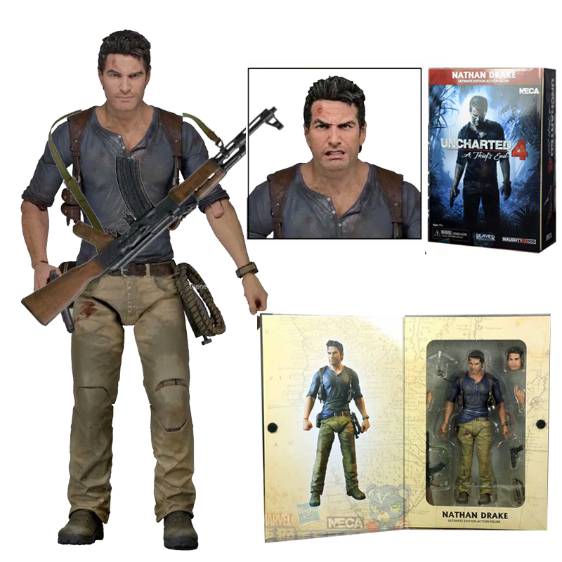 NECA Uncharted 4 A Thief's End Figures NATHAN DRAKE PVC Action Figure Collectable Model Toy Christmas Gift