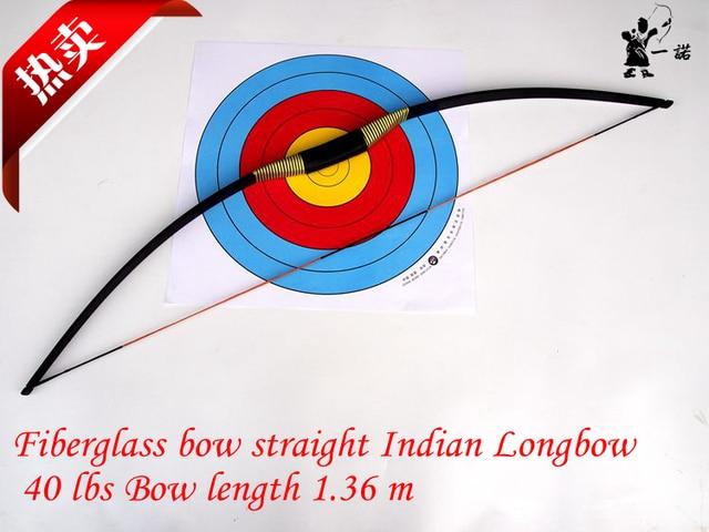 Indian fiberglass bow straight bow Longbow 40 lbs 1.36 m long epoxy fiberglass sheet production