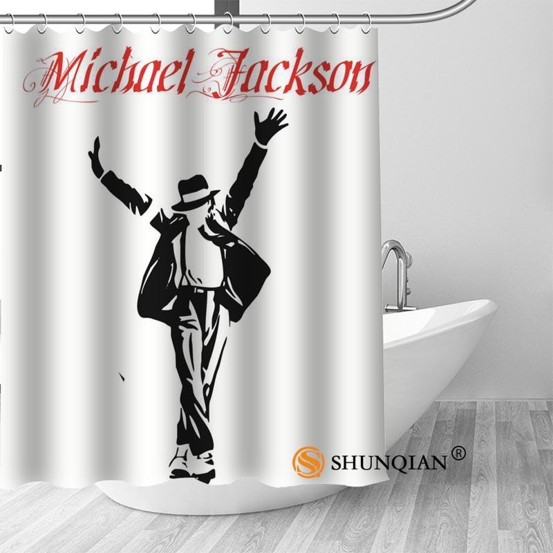 Custom Michael Jackson Bath Curtain Fabric Modern Shower Curtain bathroom beautiful Curtains Bath decor