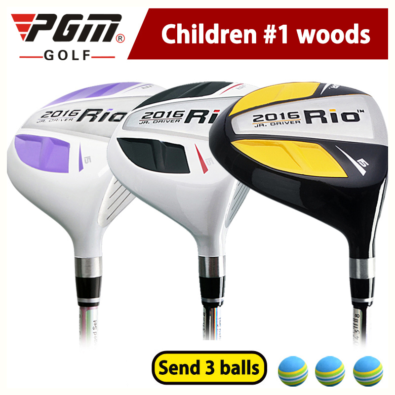 Professional Children s Club Driver PGM Genuine Golf 1 Wood Rod Beginner Exercises Kids Boy Club