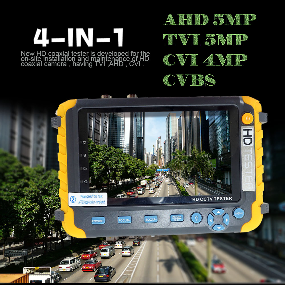NEW 5 inch TFT LCD HD 5MP TVI AHD CVI CVBS Analog Security Camera Tester Monitor in One CCTV Tester VGA HDMI Input IV8W - 3