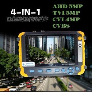 Image 3 - Novo 5 polegada tft lcd hd 8mp tvi ahd cvi cvbs analógico câmera de segurança tester monitor em um cctv testador vga hdmi entrada iv8w