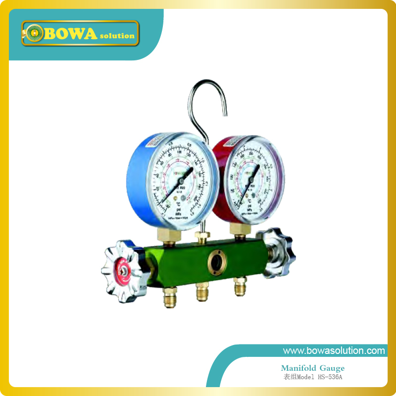 R134a, R22 and R12 manifold Gauge set with Forging Aluminum valve body