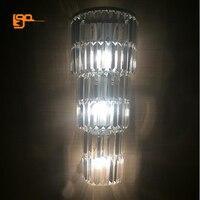 Новый Дизайн Длинные Кристалл Бра Современный роскошный настенный светодиодный свет для дома отель проект освещения