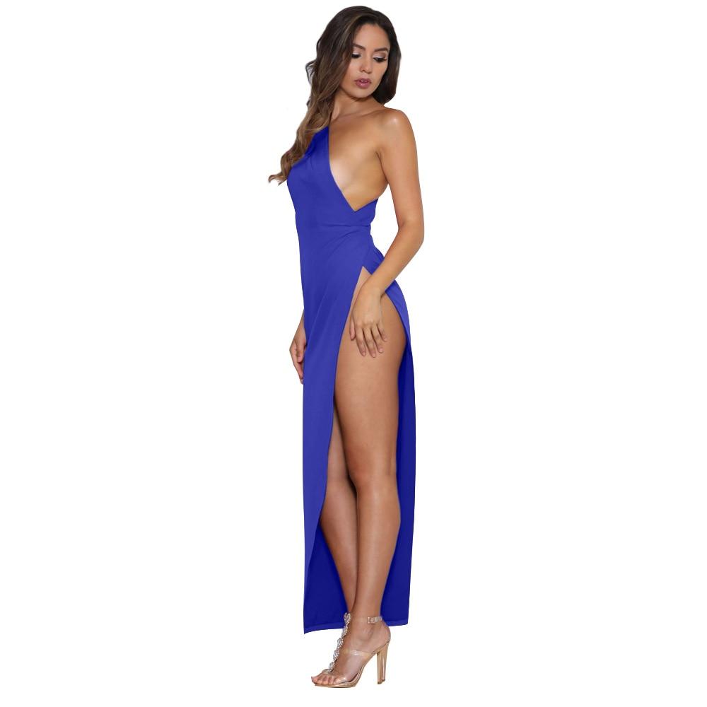 Sexy One Shoulder Women Dress Sexy Side Split Elegant Half Sleeve High Waist Bodycon Party Vestidos