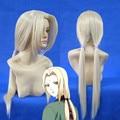 Naruto larga recta rubia ligera Senju Tsunade Anime Cosplay pelucas larga flequillo lateral Cos pelucas de pelo