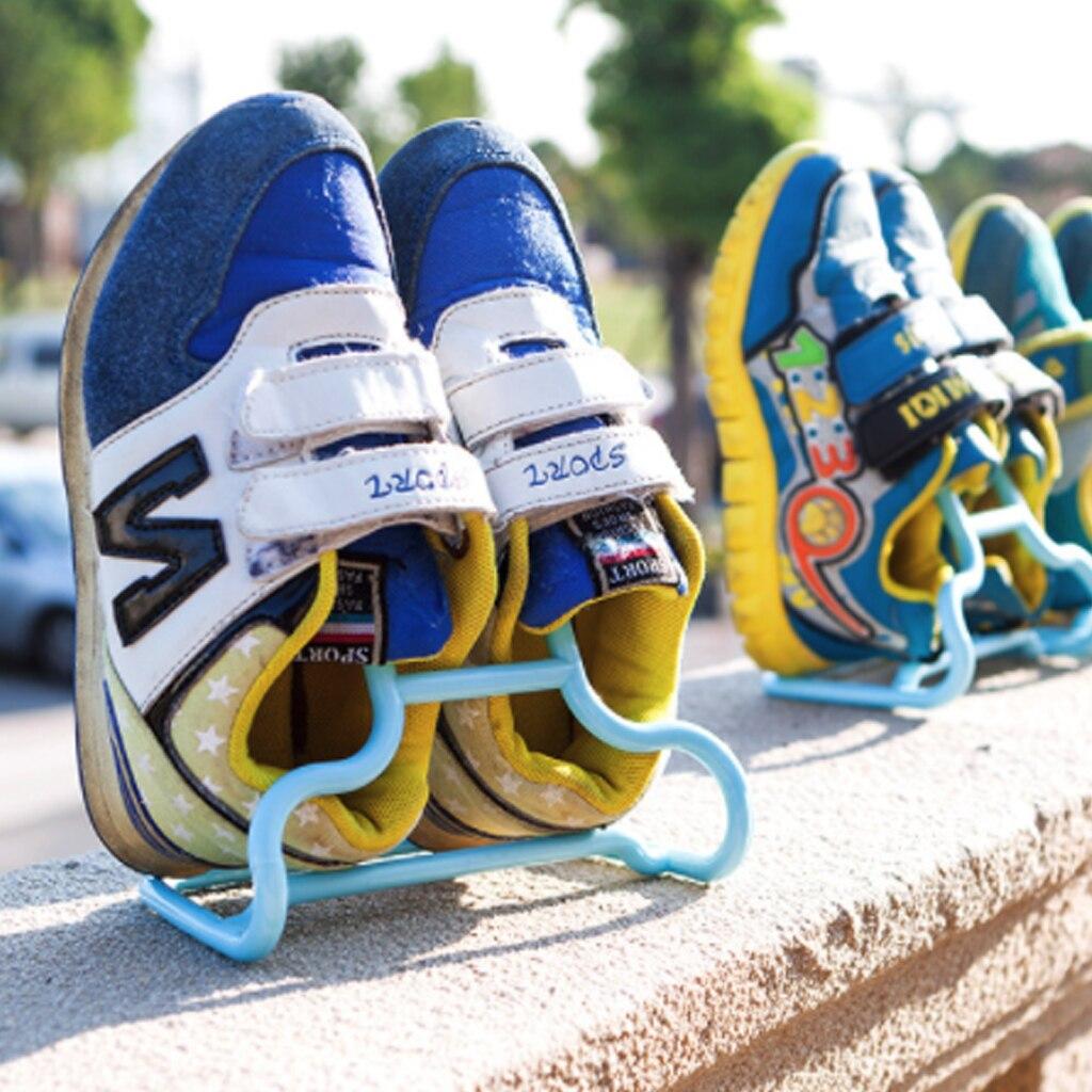 10PCS per Set Multi Function Hanging Shoe Organizer used as Drying Shoe Hanger for Hanging Kids Shoes 2