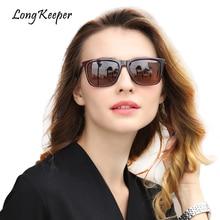 LongKeeper gepolariseerde zonnebril voor mannen vrouwen hoge kwaliteit vierkante mannelijke rijden zonnebril Eyewears 2018 nieuwe Hot