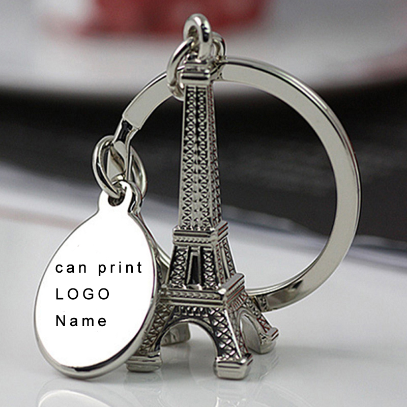 (50 unidades / lote) Llavero de la Torre Eiffel de plata Tour de París Llavero Eiffel Llaveros y regalos personalizados de boda Souvenirs de cumpleaños