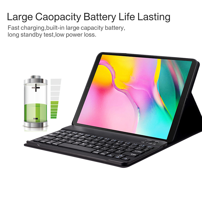 Image 5 - Bluetooth keyboard case for Samsung Galaxy Tab A 10.1 inch 2019  tablet SM T510 SM T515 Removable wireless keyboard tablet coverTablets