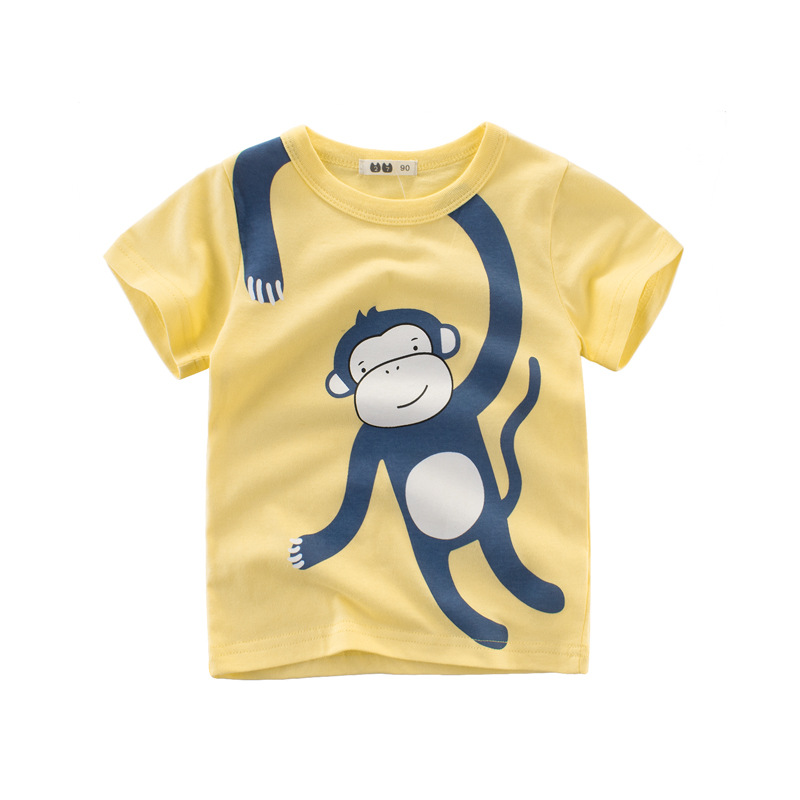 Toddler Boys Tshirts Tops Summer Children T Shirts Boys Clothes Tee Shirt Cotton Character Print Kids Clothes Girls 2 To 10 in T Shirts from Mother Kids