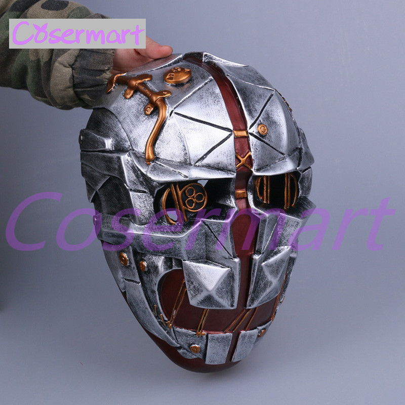 Cos Hot Game Dishonored Helmet Wearable Masks Cosplay Corvo Attano Mask Hard Resin Halloween Party (6)