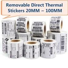 Съемные термоэтикетки водонепроницаемые этикетки 40*30 50*30