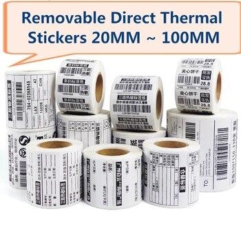 Removable  Direct Thermal Label Waterproof Labels 40*30 50*30 60*40 70*50 80*50 , 100*80 for Zebra Desktop Printer GC420d