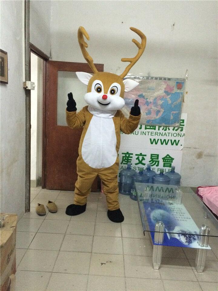 Costume de mascotte de renne costumes Cosplay partie jeu robe tenues vêtements publicité carnaval Halloween noël pâques adultes