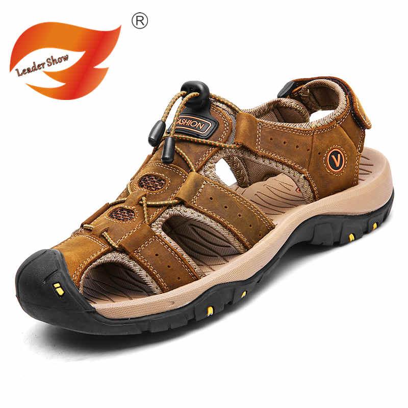 Fires Men Sandal Leather Shoes Mens Flip Flops Casual Men Shoes Summer Fashion Beach Slippers Flip Flop calzado hombre mlb mens locker label contour flip flop pick team