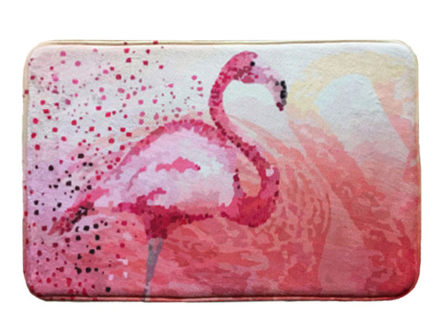 Tapis de bain Rose Flamingo Impression Suede Antidérapant Absorbant ...