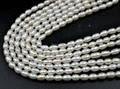 AA wholesale 5 strands 4mm rice Cultured freshwater pearl
