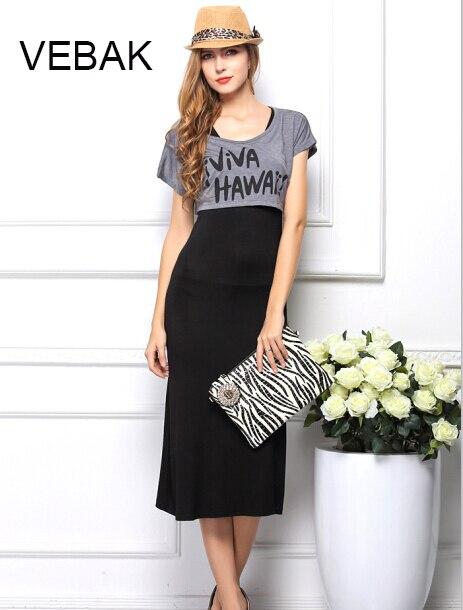 88e3d290163 VEBAK tall women Maxi dress 2015 new fashion summer beach sleeveless long  black casual dresses bohemian shift cotton vestidos XL