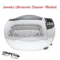 3L 80 Вт ювелирный Ультразвуковой очиститель + корзина из нержавеющей стали ультразвуковая Чистящая машина цифровой воды Нагревательный очи