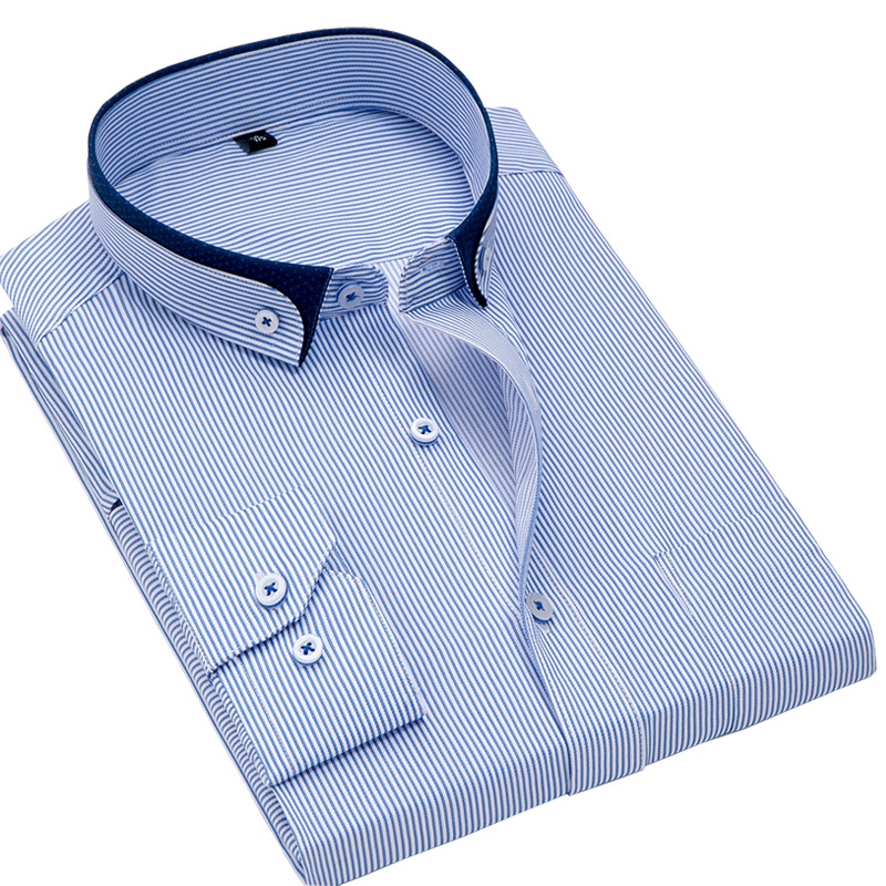 PAULJONES collar slim fit business men dress shirts male