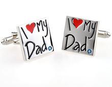Запонки в виде лептона «Я люблю своего отца» запонки подарок