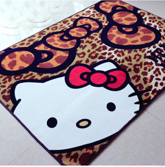 130x190cm Hello Kitty Carpets For Living Room Rugs And Bathroom Carpet Child Decor Bedroom Home