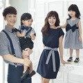 Camisa de Vestido de Mãe e Filha Filho Pai Roupas Da Família de verão Da Família Roupas Combinando Mulheres Amante Menino Da Menina Do Miúdo Camisa 3XL D35